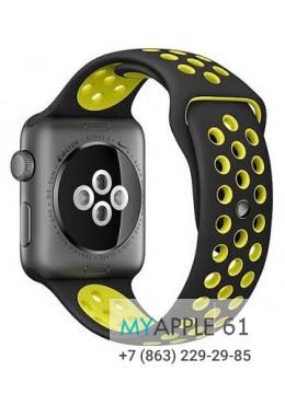 Ремешок Черно-Желтый Dot Style для Apple Watch 42mm