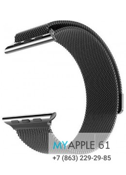Cетчатый миланский Milanese браслет для Apple Watch 42мм Black
