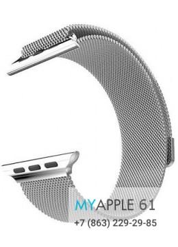 Cетчатый миланский Milanese браслет для Apple Watch 42мм Silver