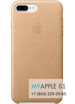 Чехол Apple Leather Case Gold