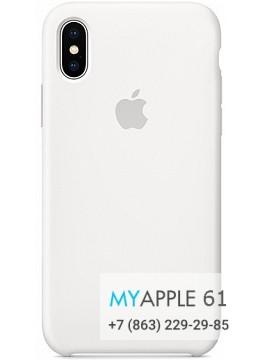 Силиконовый чехол 10 (X), 10S (XS) Apple Silicone Case белый