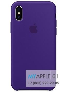 Силиконовый чехол 10 (X), 10S (XS) Apple Silicone Case Ультрафиолет (Ultra Violet)