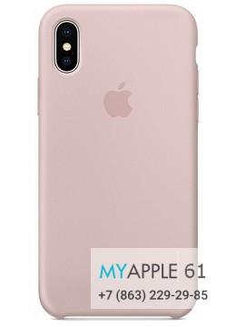 Силиконовый чехол 10 (X), 10S (XS) Apple Silicone Case розовый песок (Pink Sand)