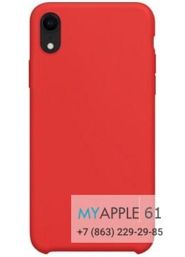Силиконовый чехол iPhone Xr (10r) красный
