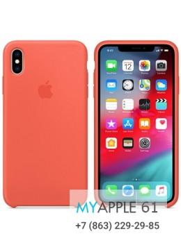Силиконовый чехол iPhone XS Max (10S Max), цвет спелый нектарин