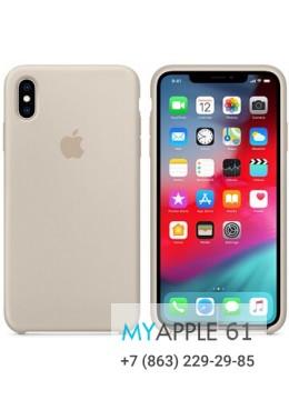 Силиконовый чехол iPhone XS Max (10S Max), цвет бежевый