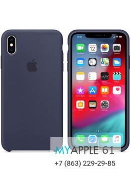 Силиконовый чехол iPhone XS Max (10S Max), цвет синий