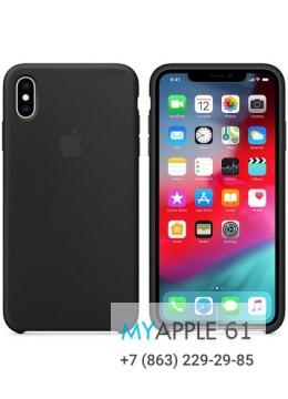 Силиконовый чехол iPhone XS Max (10S Max), цвет спелый чёрный
