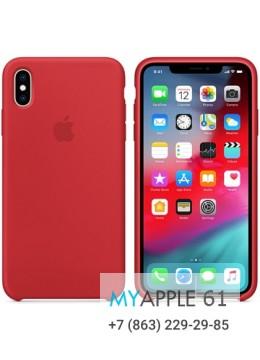 Силиконовый чехол iPhone XS Max (10S Max), цвет красный