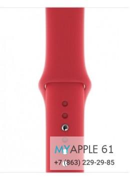 Спортивный ремешок красного цвета для корпуса 40 мм, размеры S, M и M, L