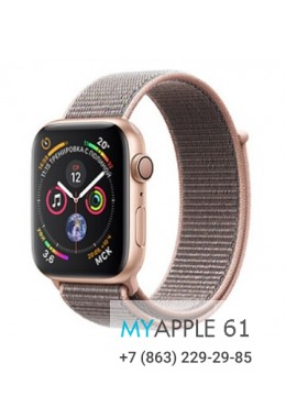 Apple Watch Series 4 44 mm Gold with Pink Sand Sport Loop