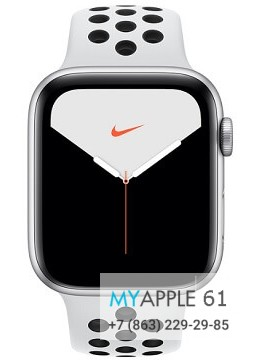 Apple Watch Series 5 44 mm Nike Silver Pure Platinum Black